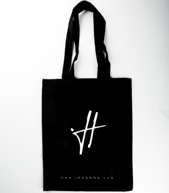 INHANNA Signature Tote Bag Black
