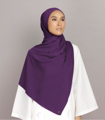 Shania Eyelash Shawl Dark Purple