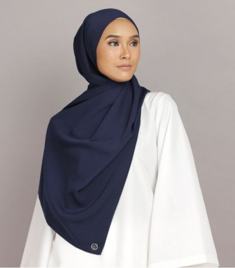 Shania Eyelash Shawl Navy Blue