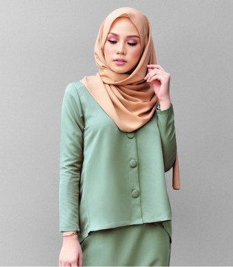 Kate Casual Kurung Green Tea