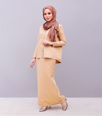 Kate Casual Kurung Milk Tea