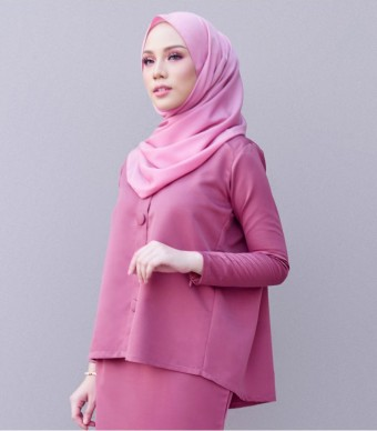 Kate Casual Kurung Magenta Purple