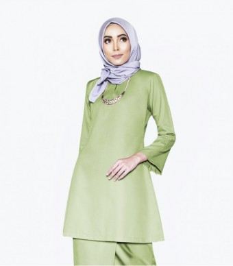 Basic Gulinear Kurung Riau Green Apple