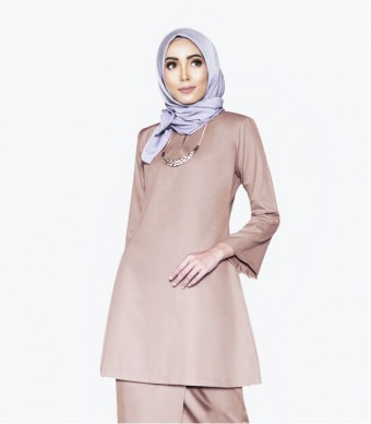 Basic Gulinear Kurung Riau Dusty Brown