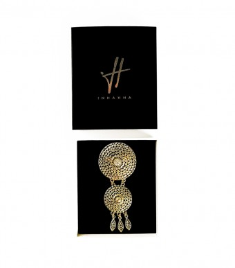 Brooch Rattan Pattern Gold