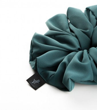 Scrunchie (Crepe) Dusty Green