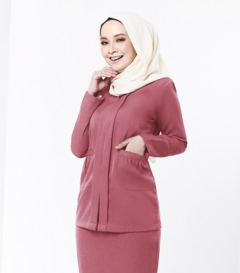 Viviana Kebaya Blush Red