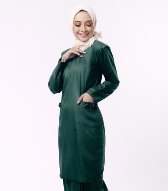 Basic Andalusia Kurung Modern Dark Green