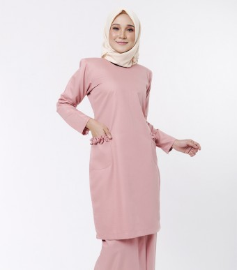 Basic Andalusia Kurung Modern Dusty Pink