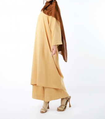 Bayu Long Tunic (Top) Custard Yellow