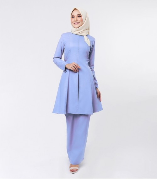 Basic Citra Kurung Riau Dusty Blue