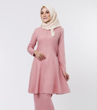 Basic Citra Kurung Riau Dusty Pink