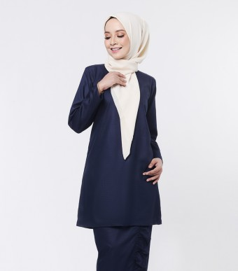 Basic Embun Kurung Loose Dark Blue