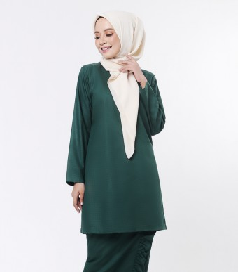 Basic Embun Kurung Loose Dark Green