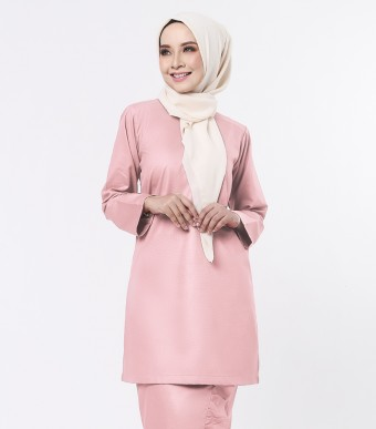 Basic Embun Kurung Loose Dusty Pink