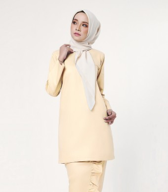 Basic Embun Kurung Loose Soft Yellow