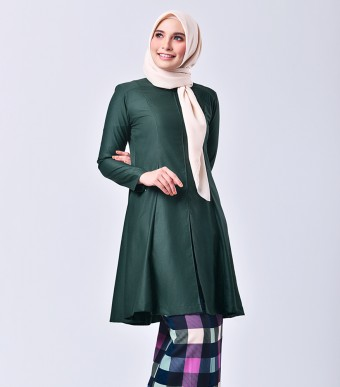 Plaid Citra Kurung Riau Dark Green