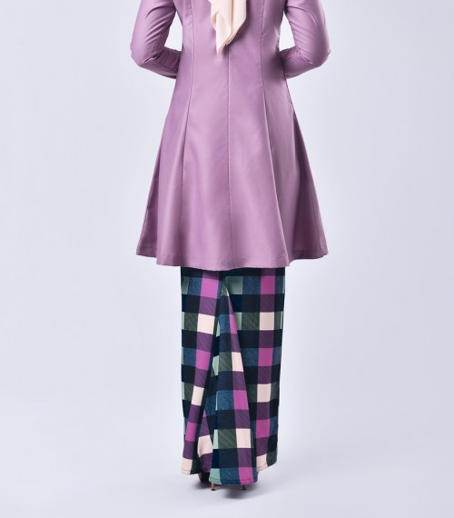 Plaid Citra Kurung Riau Lilac