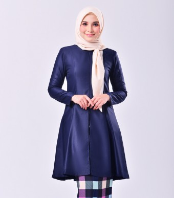 Plaid Citra Kurung Riau Midnight Blue