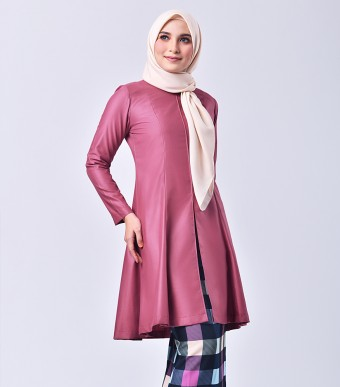 Plaid Citra Kurung Riau Pink Punch