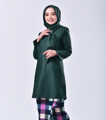 Plaid Embun Kurung Dark Green