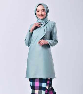 Plaid Embun Kurung Dusty Green