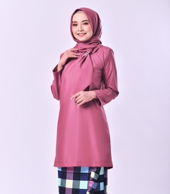 Plaid Embun Kurung Pink Punch