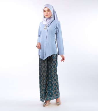 Dian Kebaya Songket Dusty Blue