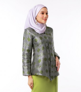 Dian Kebaya Songket Lime Green