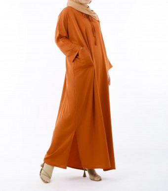 Ruuha Lounge Dress Burnt Orange