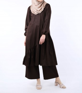 Puspa Tunik Dark Brown