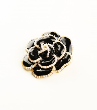 Brooch Black Rose