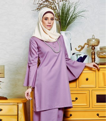 Jasmine Kurung Cekak Musang Dusty Purple