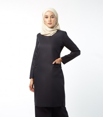 Basic Andalusia Kurung Modern Black