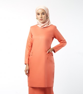 Basic Andalusia Kurung Modern Orange