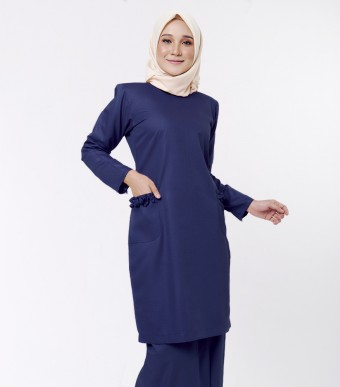 Basic Andalusia Kurung Modern Dark Blue