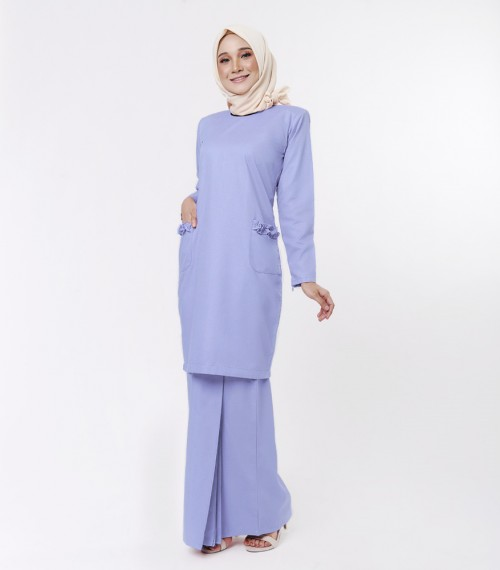Basic Andalusia Kurung Modern Dusty Blue