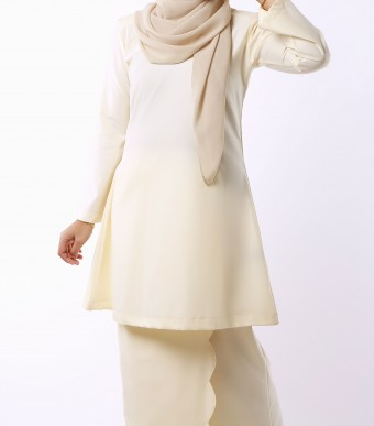 Aeda Scallop Kurung Cream