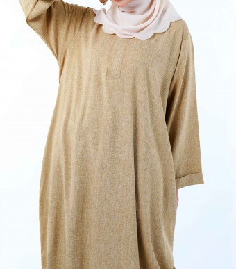 Bayu Long Tunic (Top) Sandy Brown