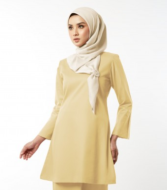 Gulinear Kurung Riau Custard Yellow