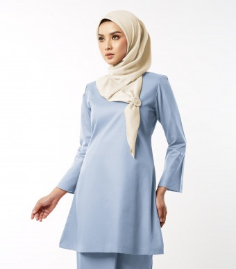 Gulinear Kurung Riau Dusty Blue