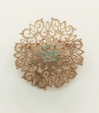 Brooch Fern in Rose Gold