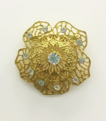 Brooch Rafflesia in Gold