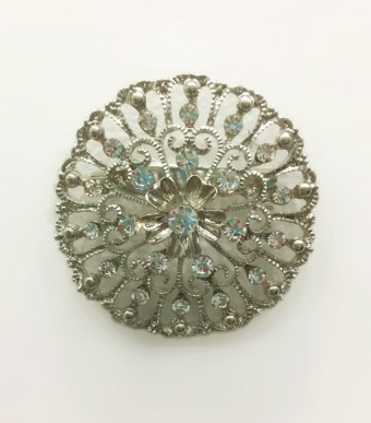 ASTER Brooch in Silver