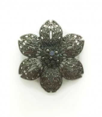 WINDFLOWER Brooch in Black