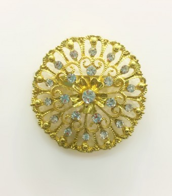 Brooch Aster  in Gold