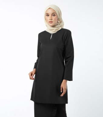 Basic Embun Kurung Loose Black
