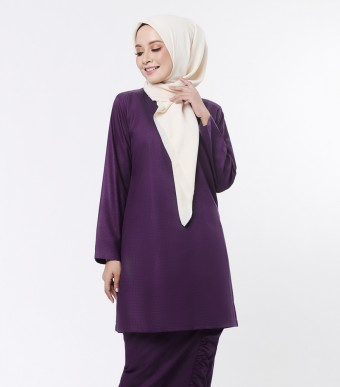 Basic Embun Kurung Loose Dark Purple