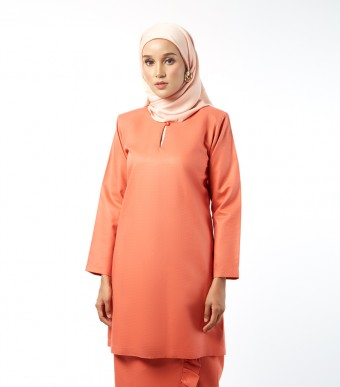 Basic Embun Kurung Loose Orange