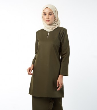 Basic Embun Kurung Loose Seaweed Green